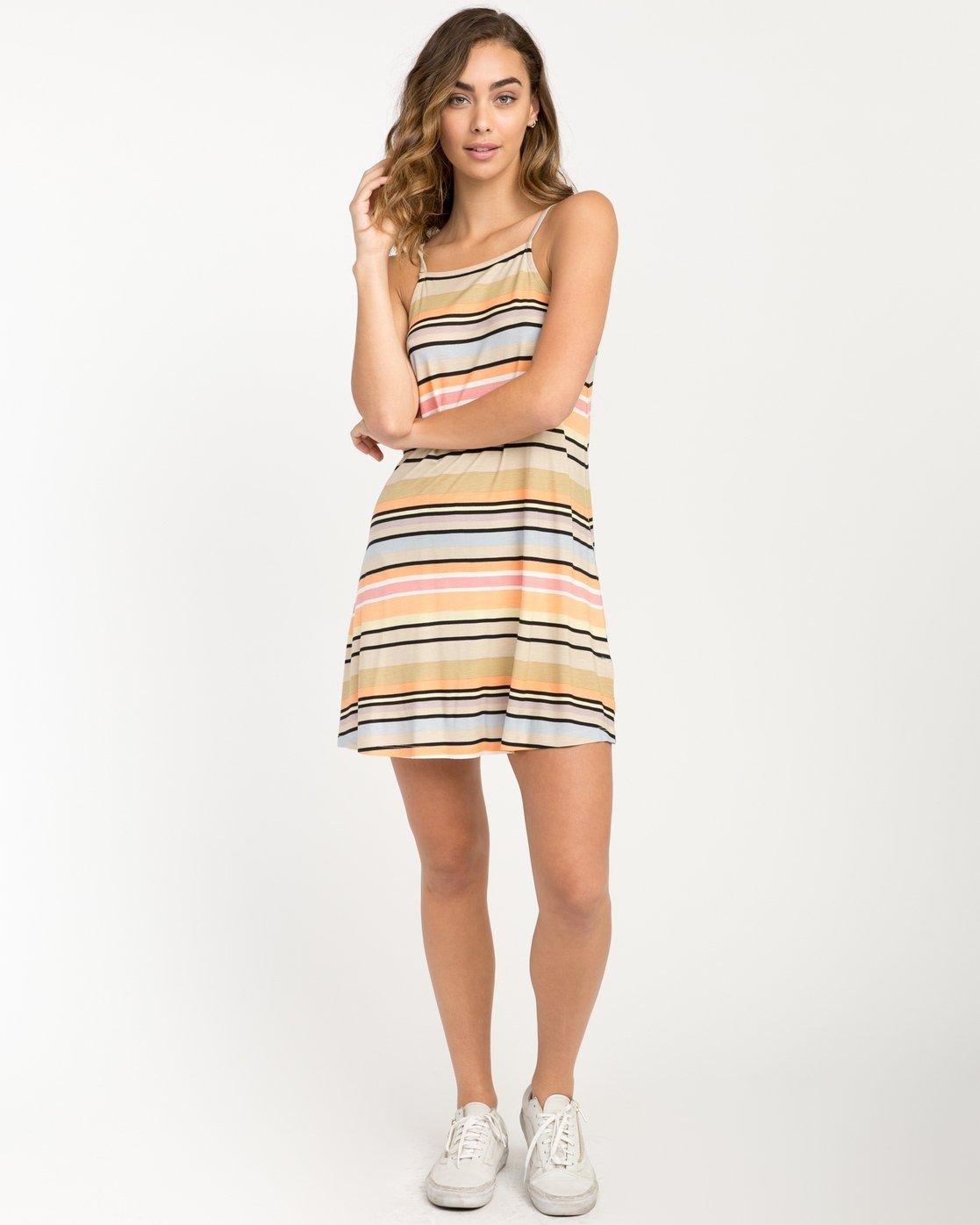 5 Hyacinth Striped Dress Beige WD02PRHY RVCA