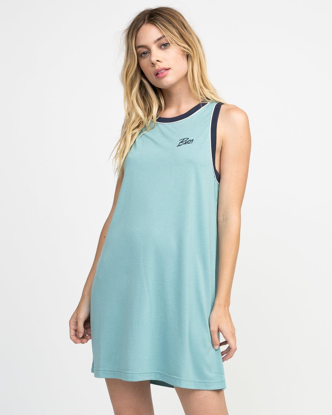 0 Offense Knit Dress Blue WD03NROF RVCA