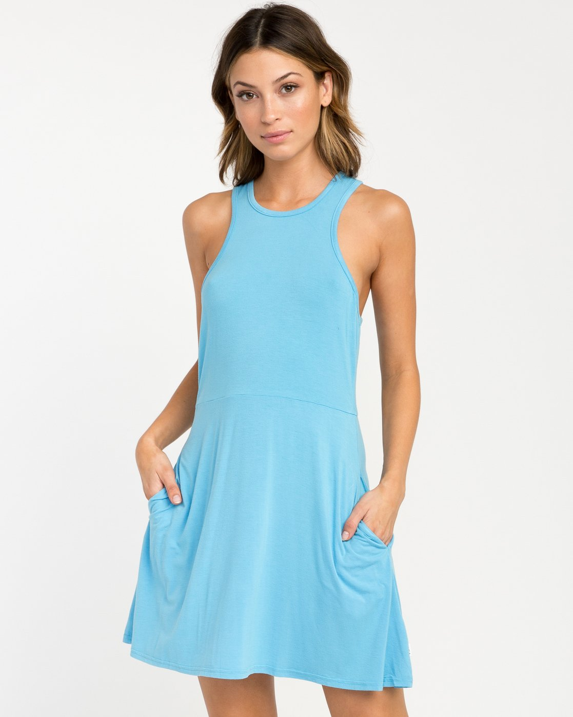0 Iris Tank Dress Blue WD03PRIR RVCA