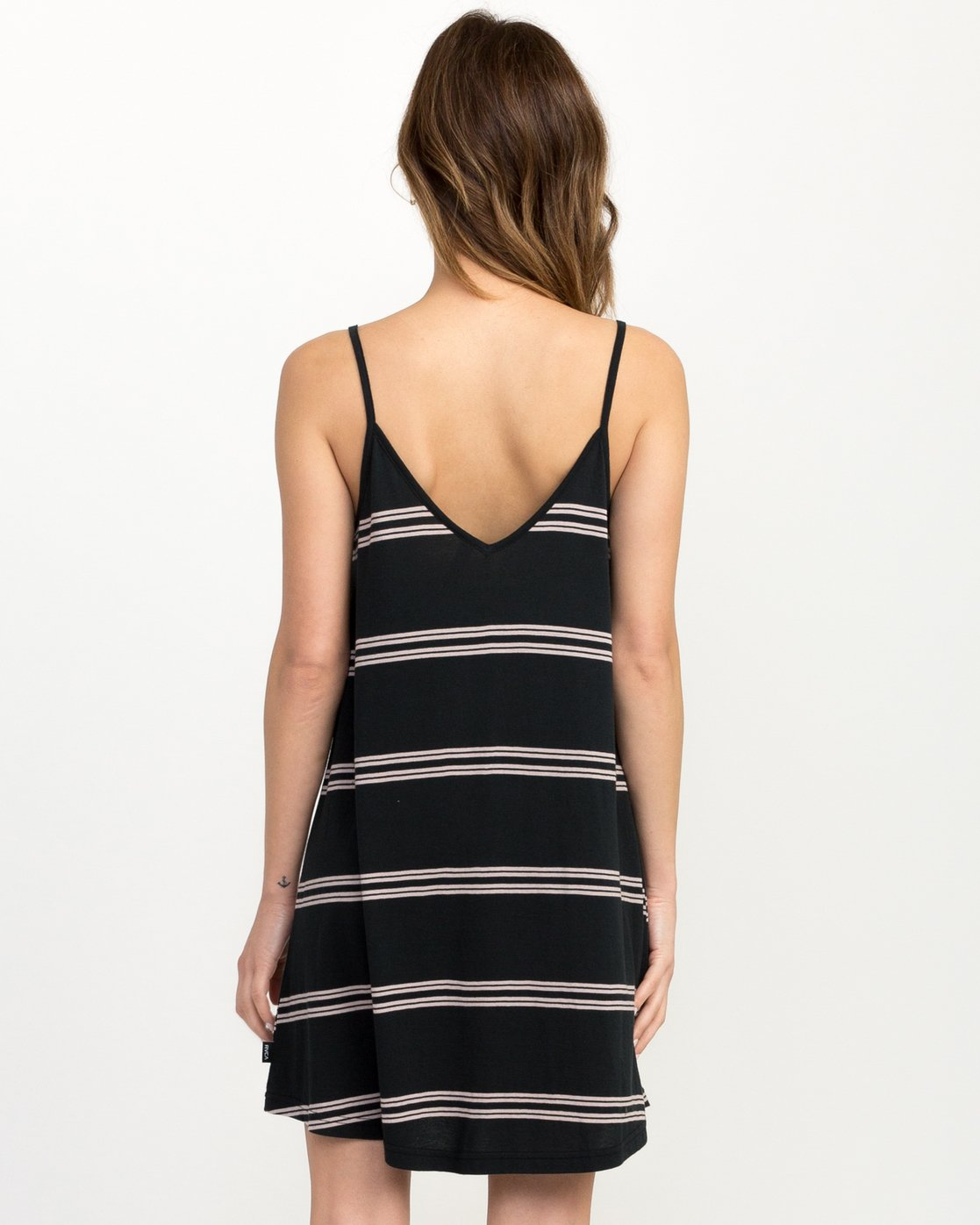 2 Downer Striped Dress Black WD03QRDO RVCA