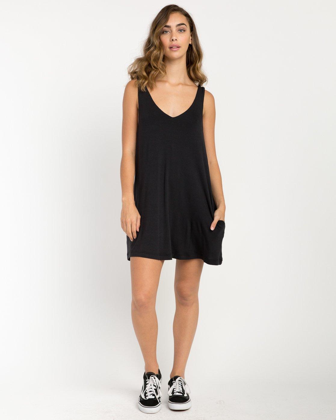 4 Chances Knit Tank Dress Black WD07NRCH RVCA