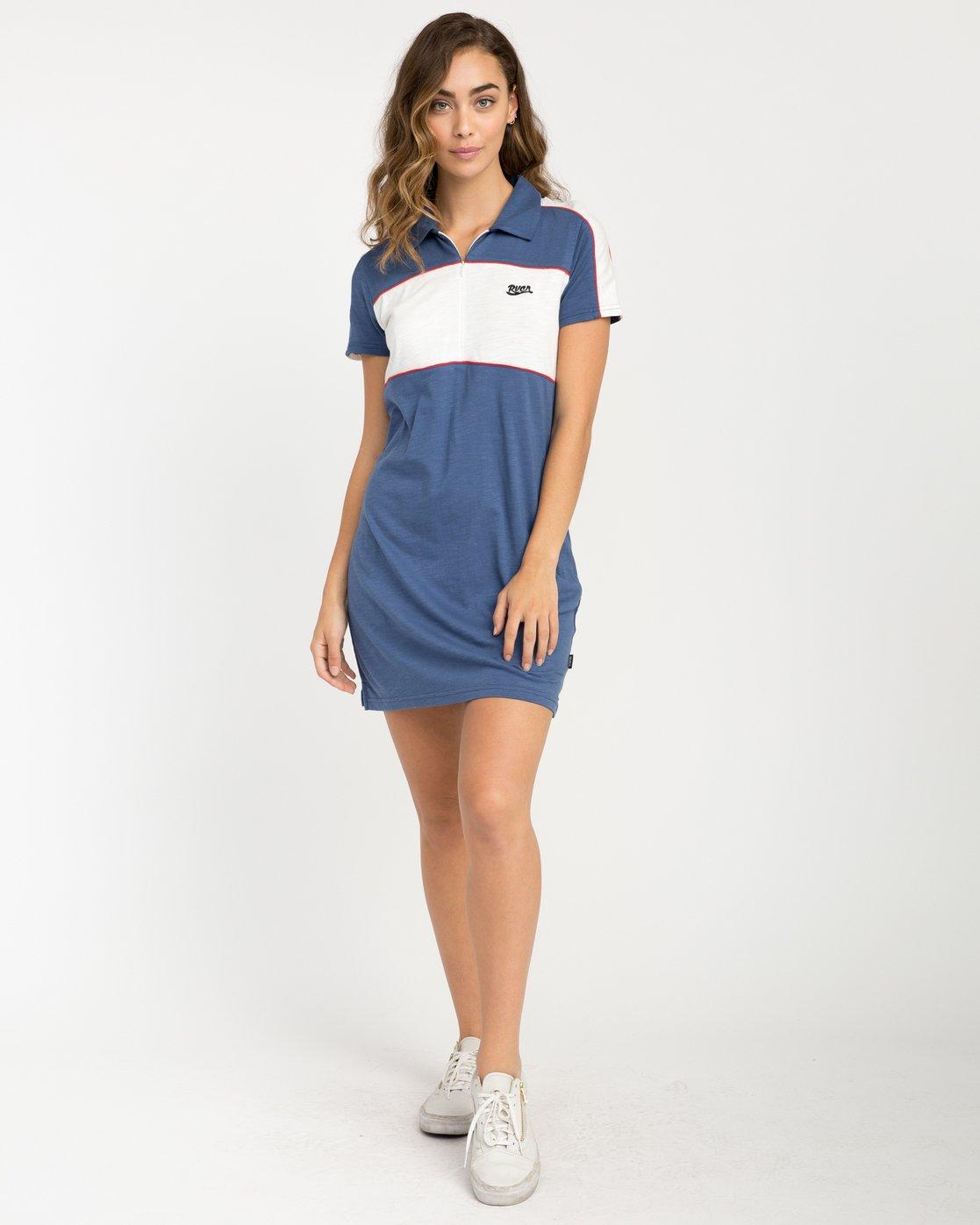 4 Hex Polo Zip Dress  WD07PRHE RVCA
