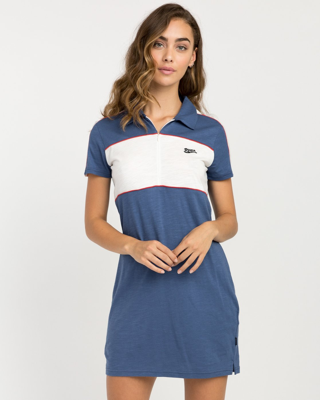 0 Hex Polo Zip Dress  WD07PRHE RVCA