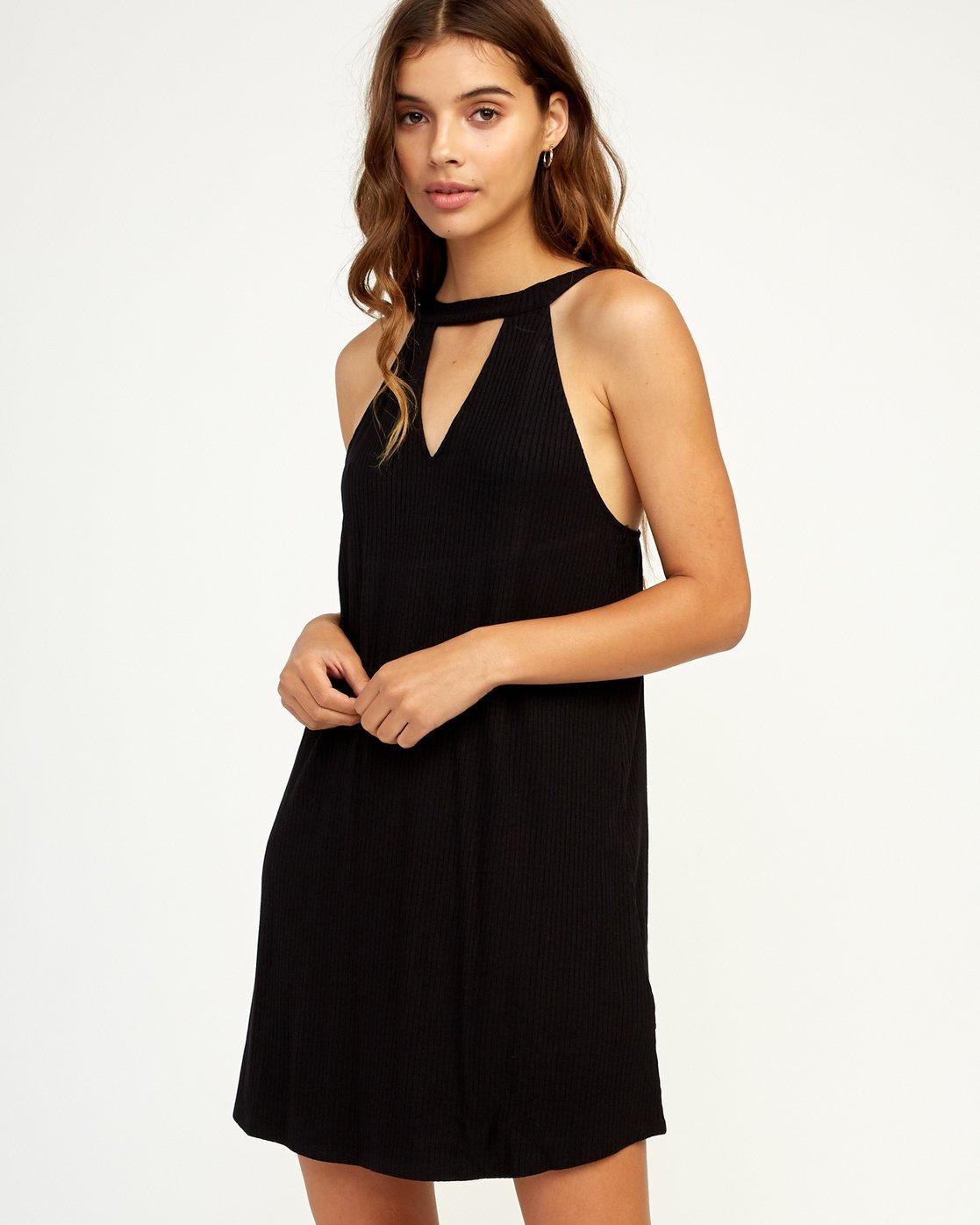 0 Brandy Knit Dress Black WD09TRBR RVCA