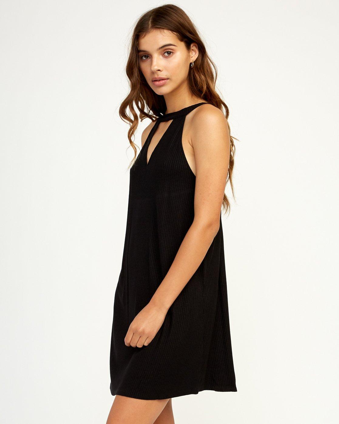 1 Brandy Knit Dress Black WD09TRBR RVCA