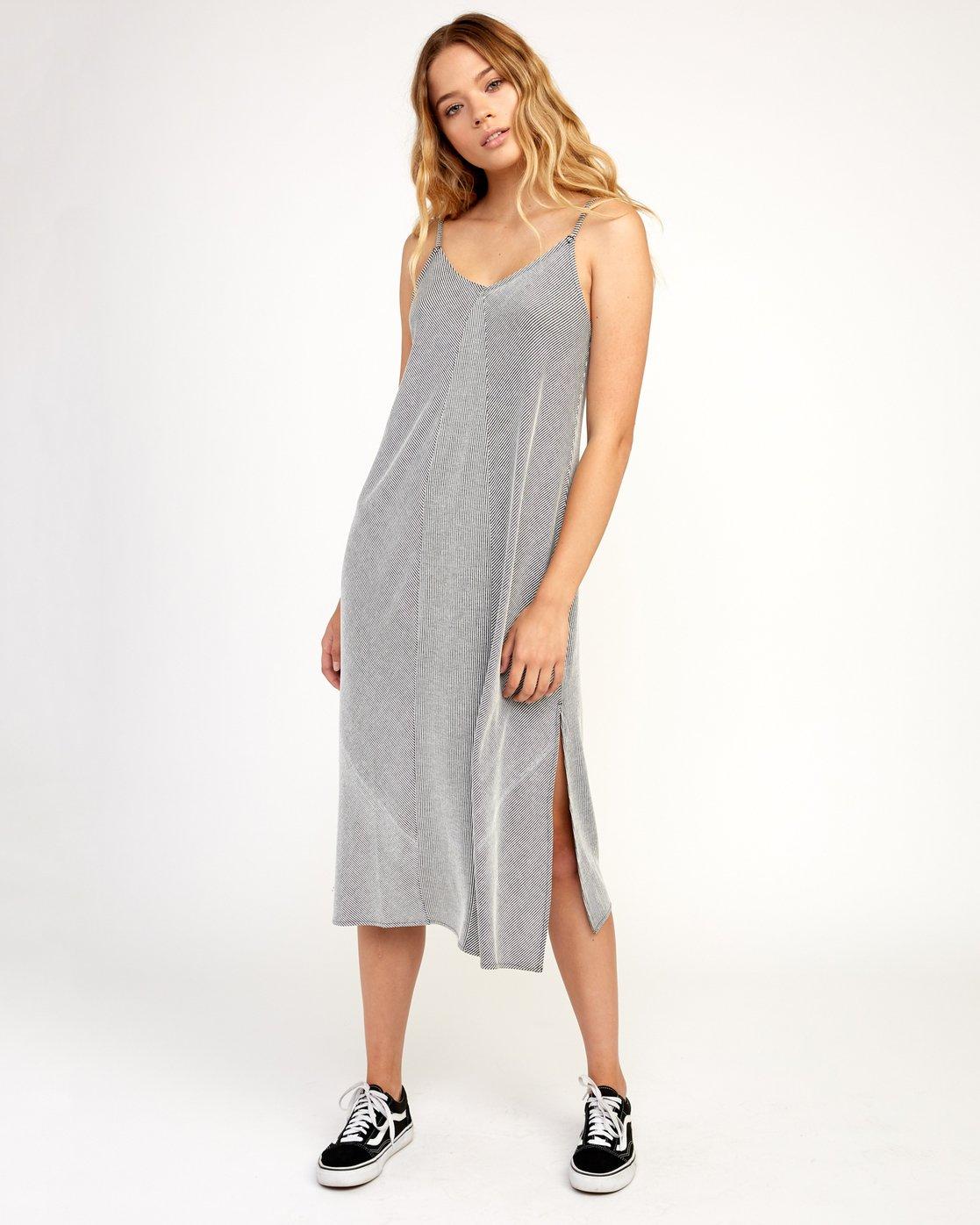 0 Layla Knit Midi Dress Black WD10TRLA RVCA