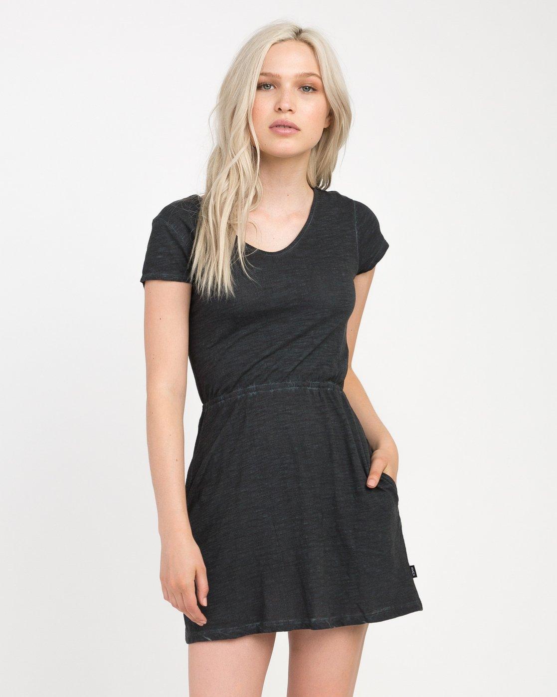 1 Shifter Knit Dress Black WD12NRSH RVCA
