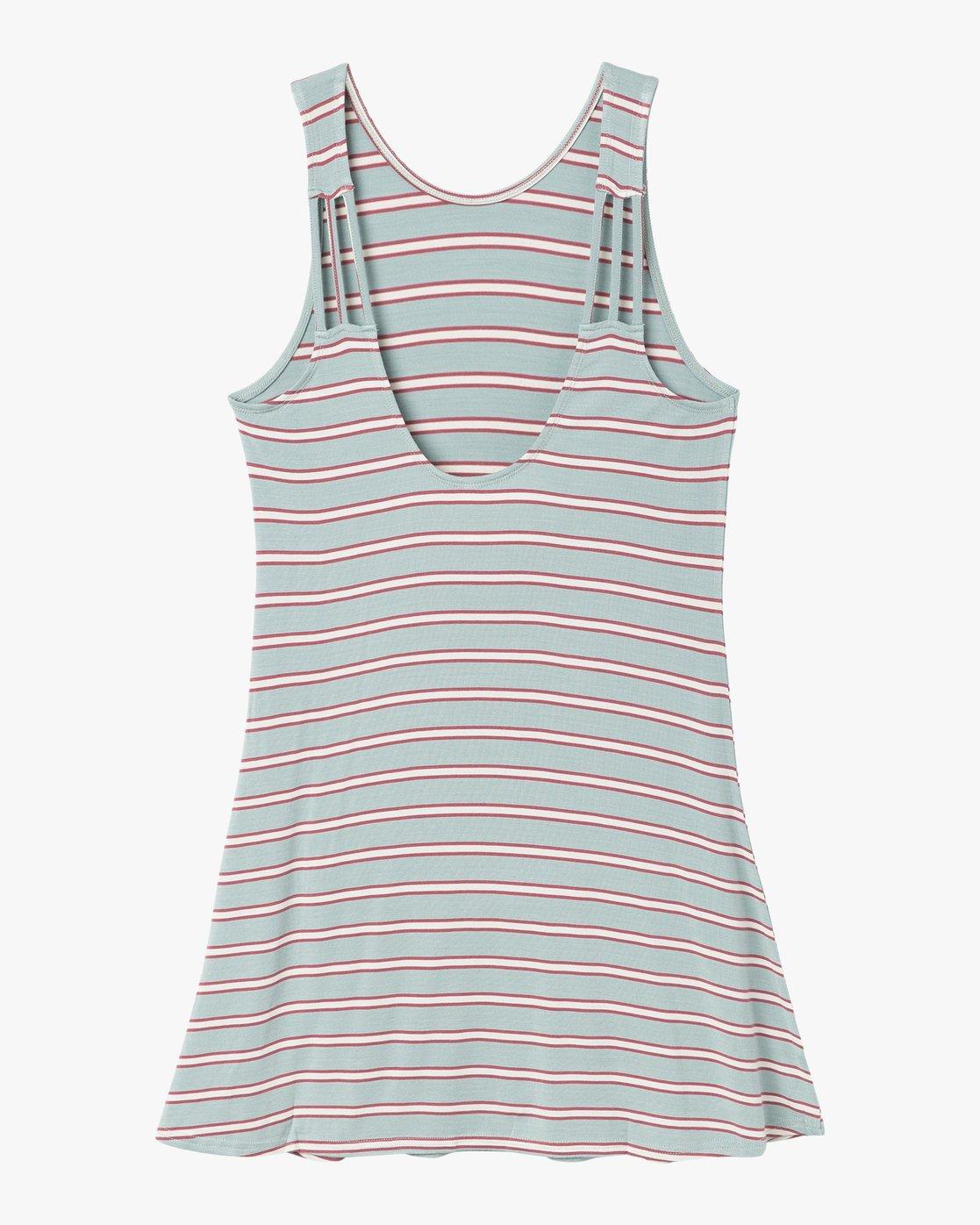 7 Lost Lane Striped Swing Dress Blue WD13PRLO RVCA