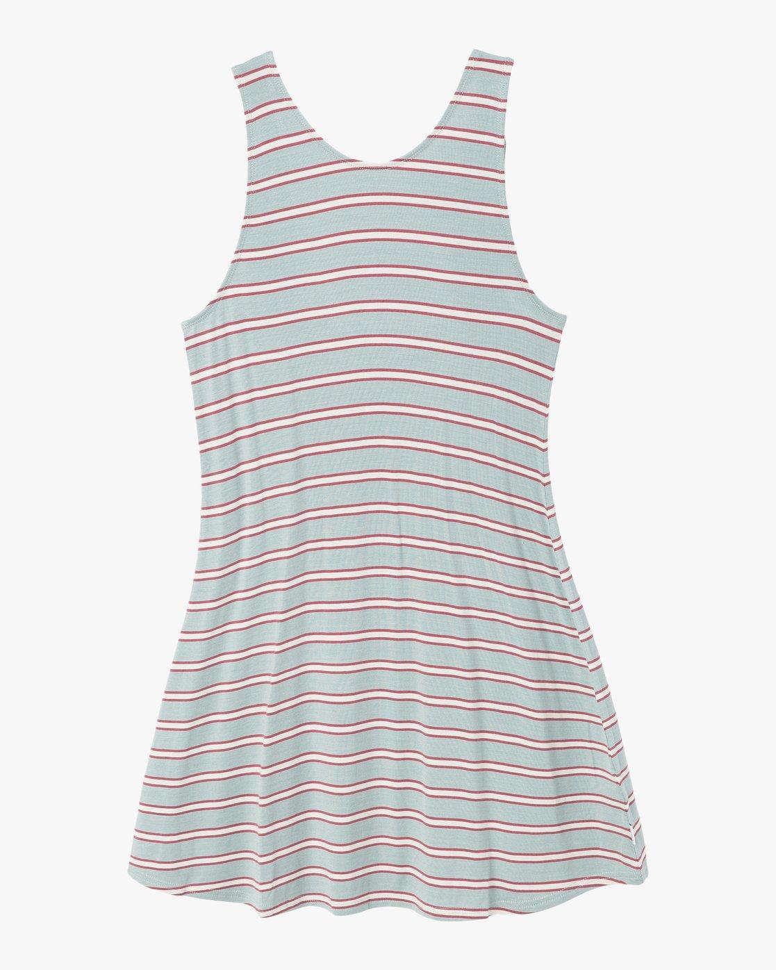 6 Lost Lane Striped Swing Dress Blue WD13PRLO RVCA