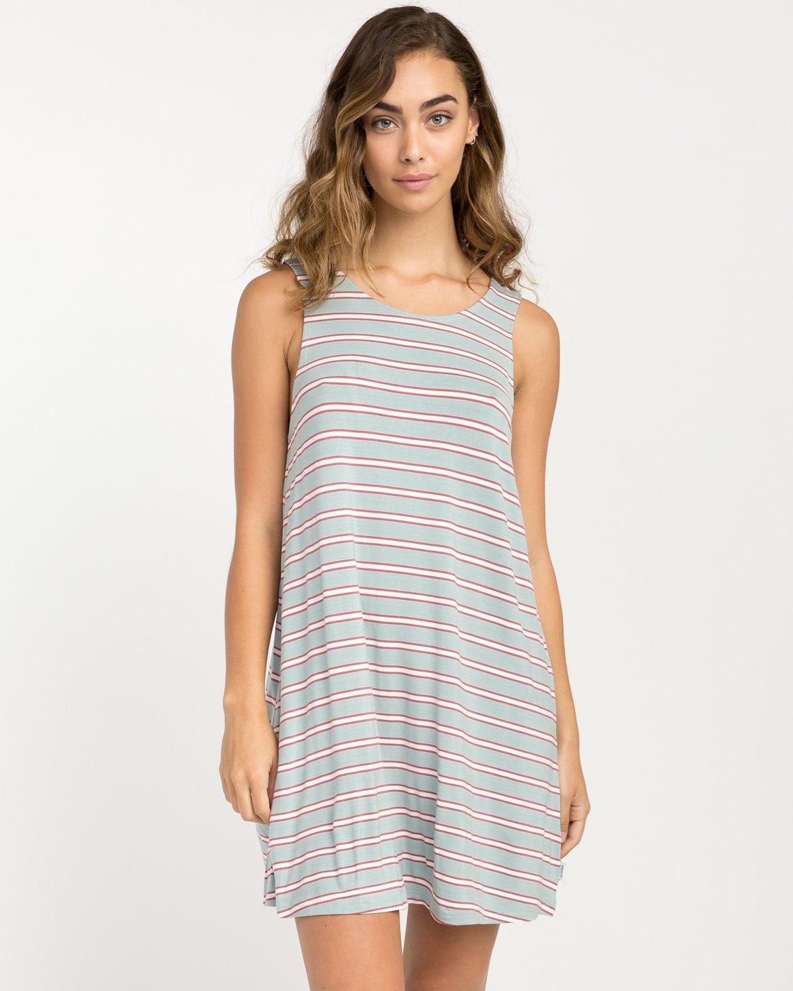 0 Lost Lane Striped Swing Dress Blue WD13PRLO RVCA