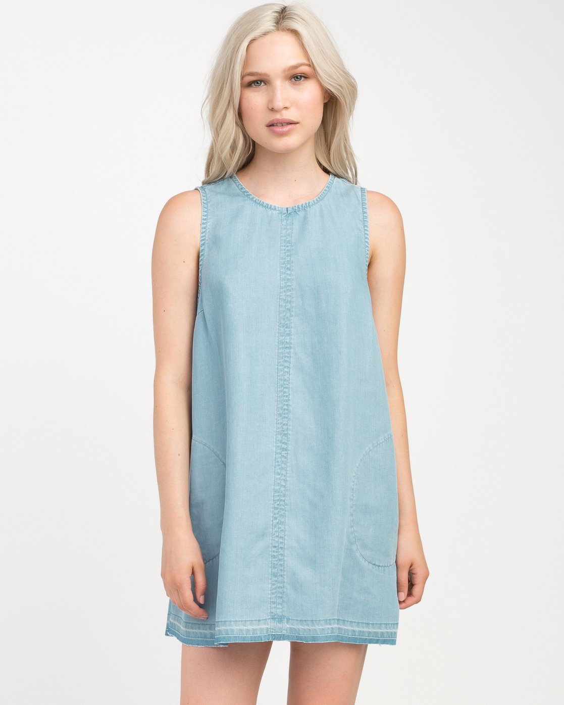 0 Release Chambray Dress Blue WD14NRRE RVCA