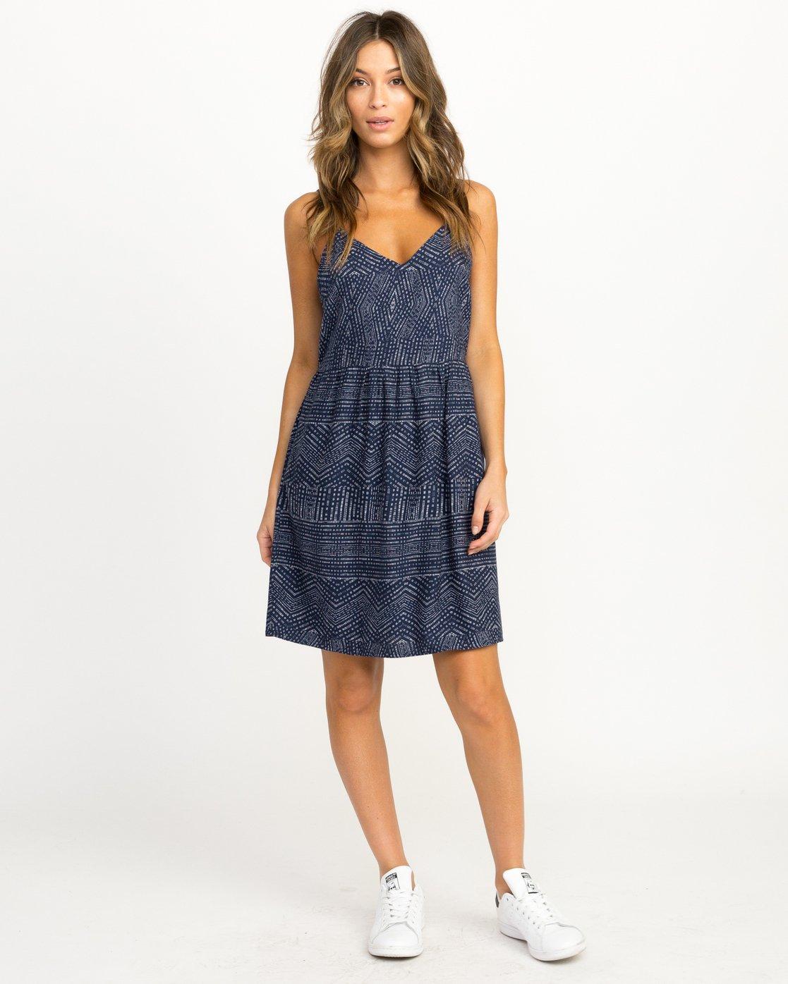 4 Nolan Printed Dress Blue WD14QRNO RVCA