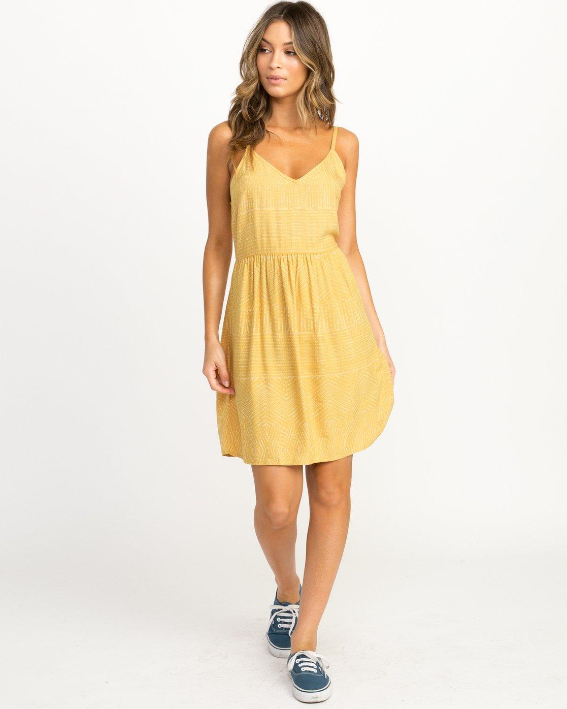 4 Nolan Printed Dress Multicolor WD14QRNO RVCA