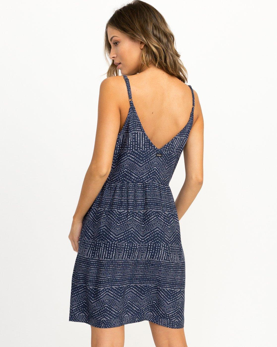 2 Nolan Printed Dress Blue WD14QRNO RVCA