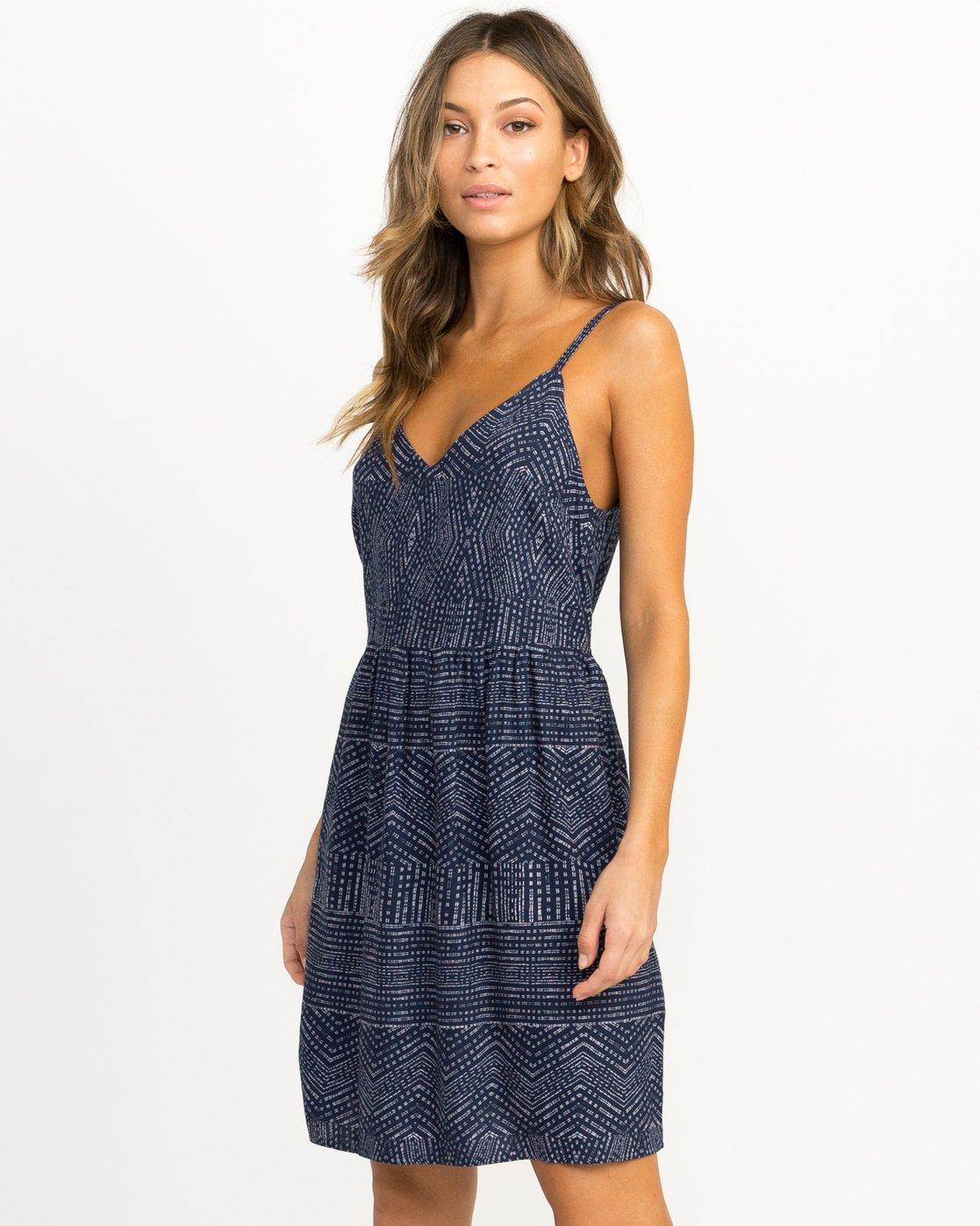 1 Nolan Printed Dress Blue WD14QRNO RVCA