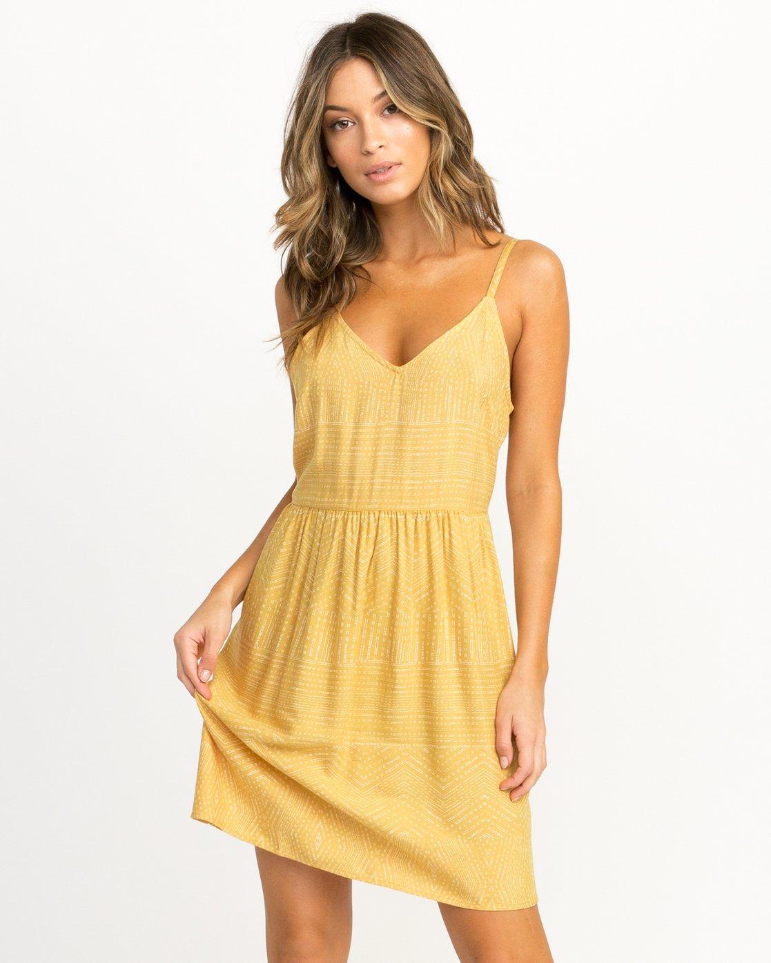 0 Nolan Printed Dress Multicolor WD14QRNO RVCA