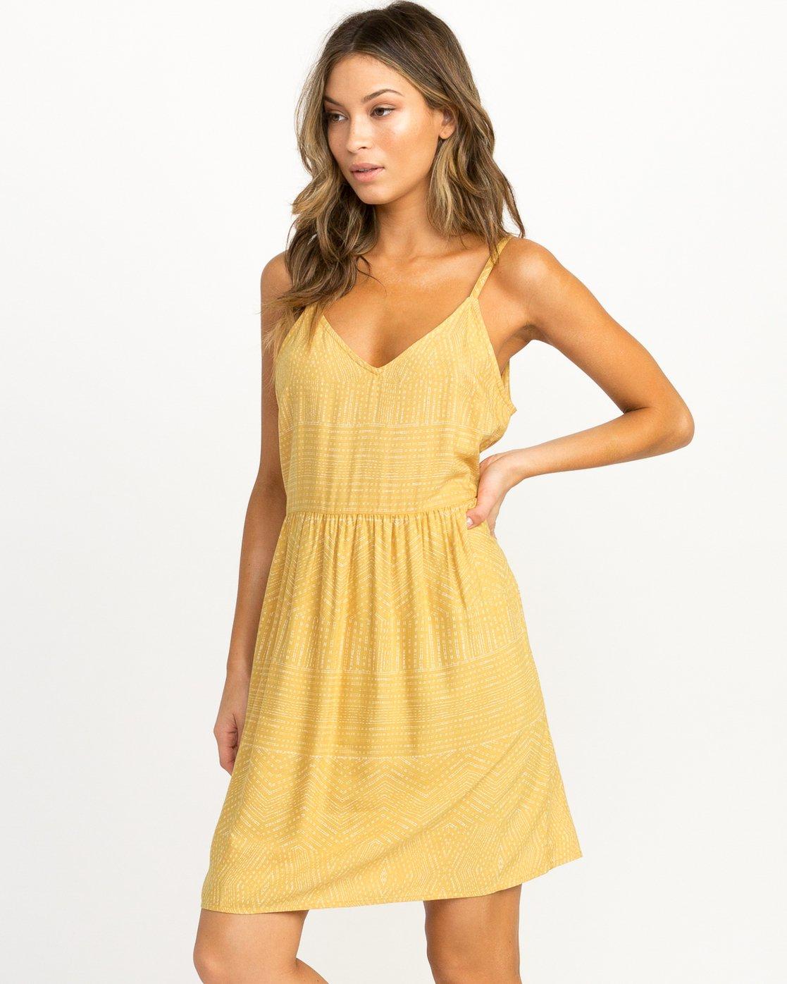 1 Nolan Printed Dress Multicolor WD14QRNO RVCA