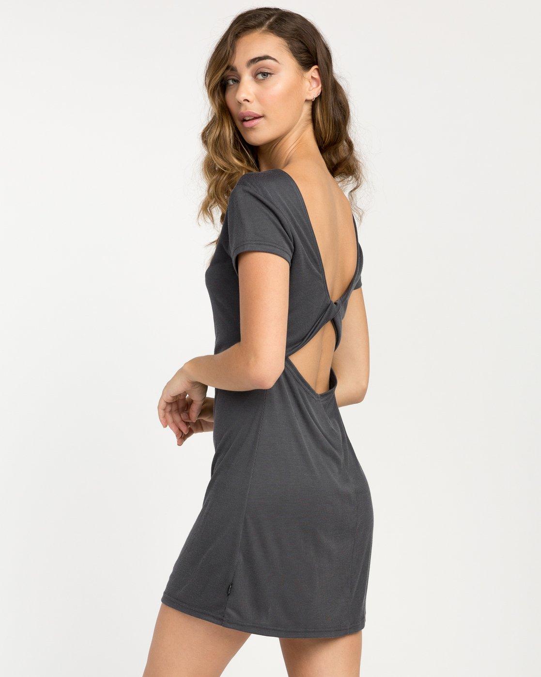 0 Wallflower T-Shirt Dress Black WD15PRWA RVCA