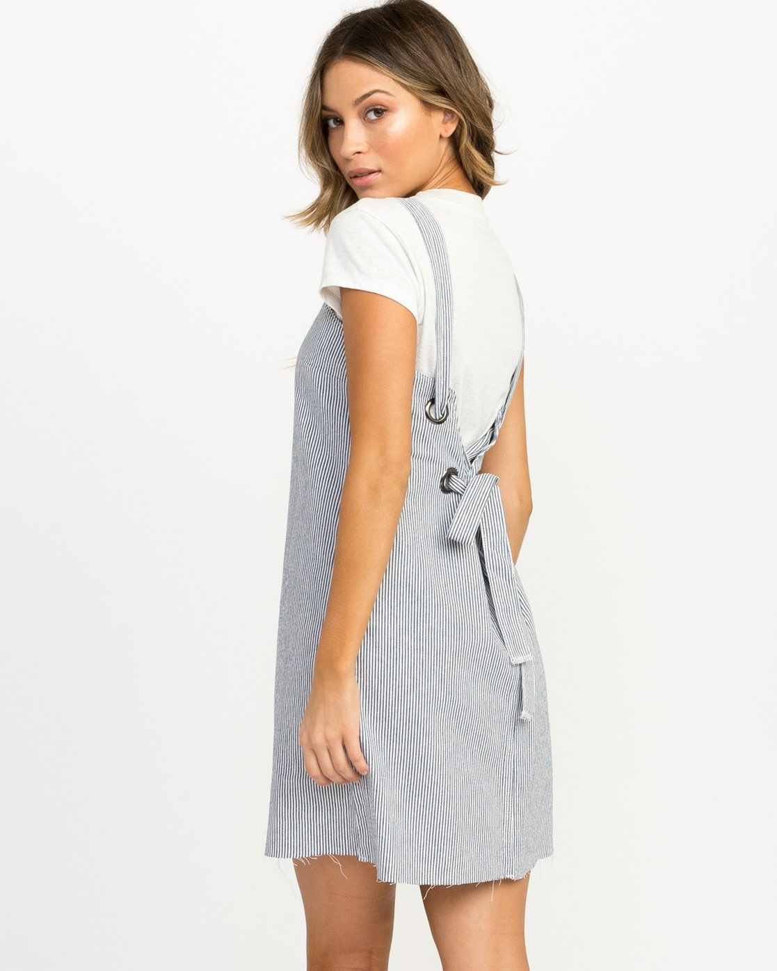 2 Tide Shift Striped Dress Silver WD18QRTI RVCA