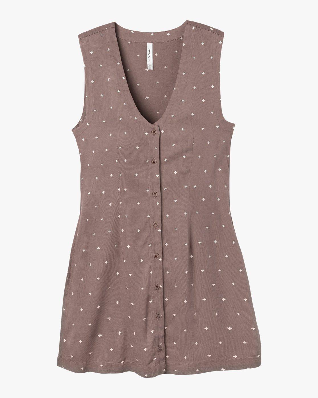 4 Fairness Printed Dress  WD19NRFA RVCA