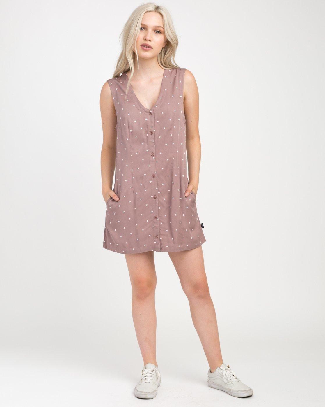 3 Fairness Printed Dress  WD19NRFA RVCA