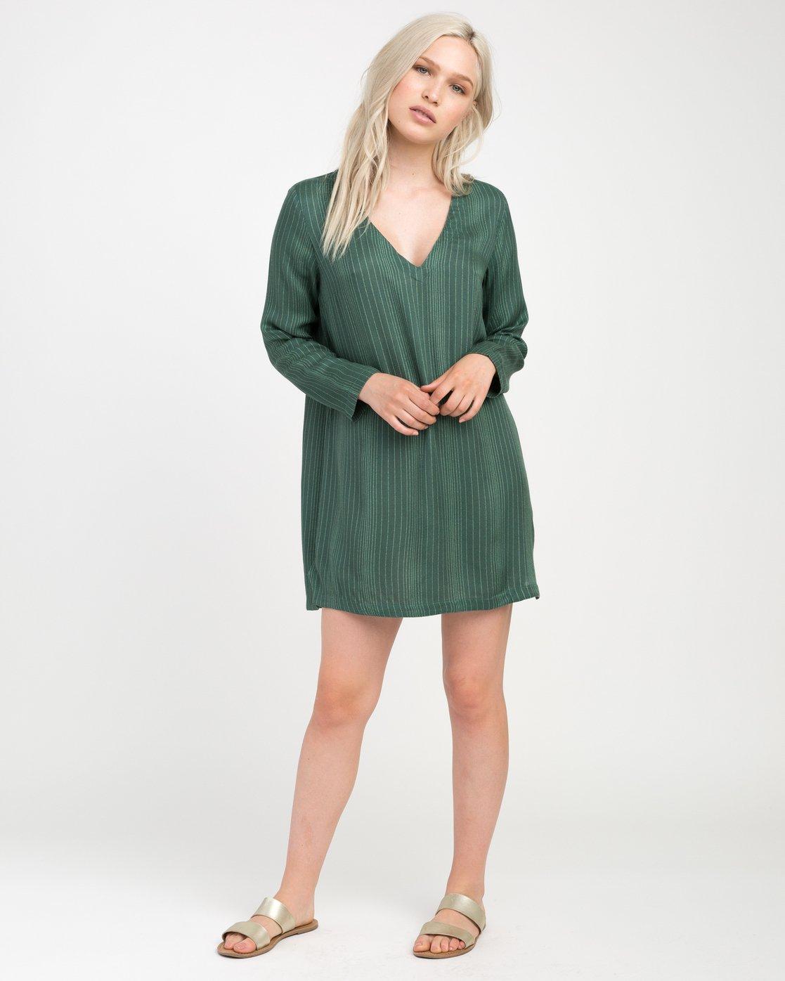3 Foxy Lady Striped Shirt Dress  WD20NRFO RVCA