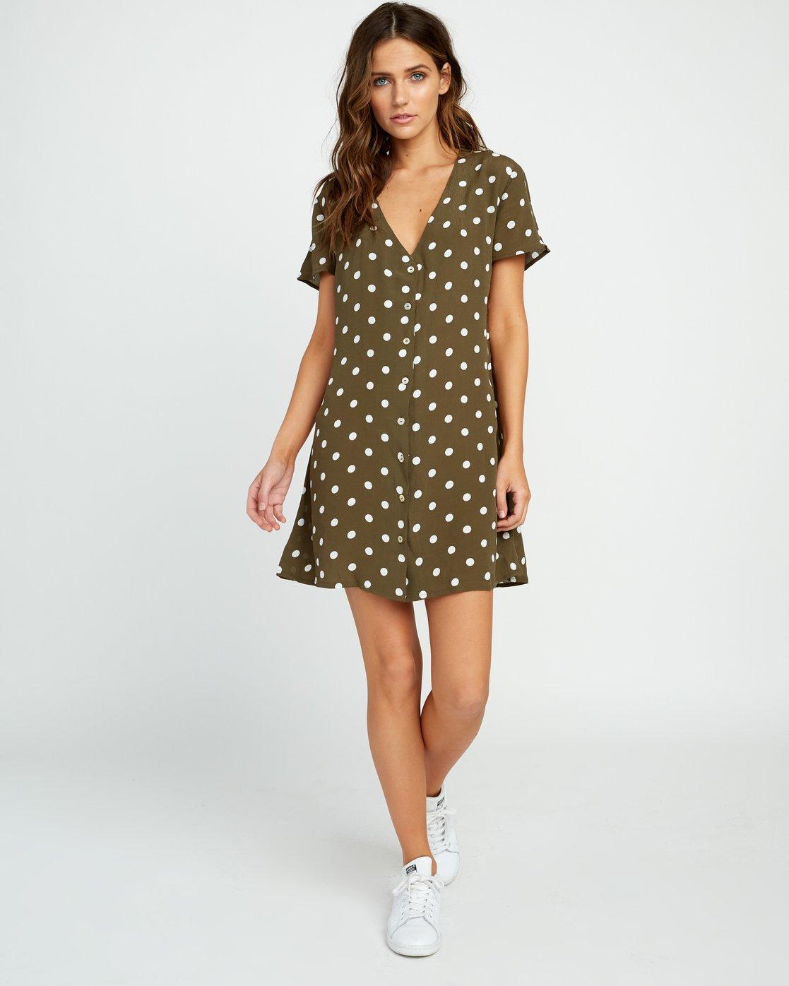 4 Benji Button-Up Dress Green WD90TRBD RVCA