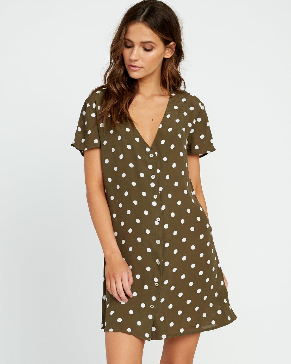0 Benji Button-Up Dress Green WD90TRBD RVCA