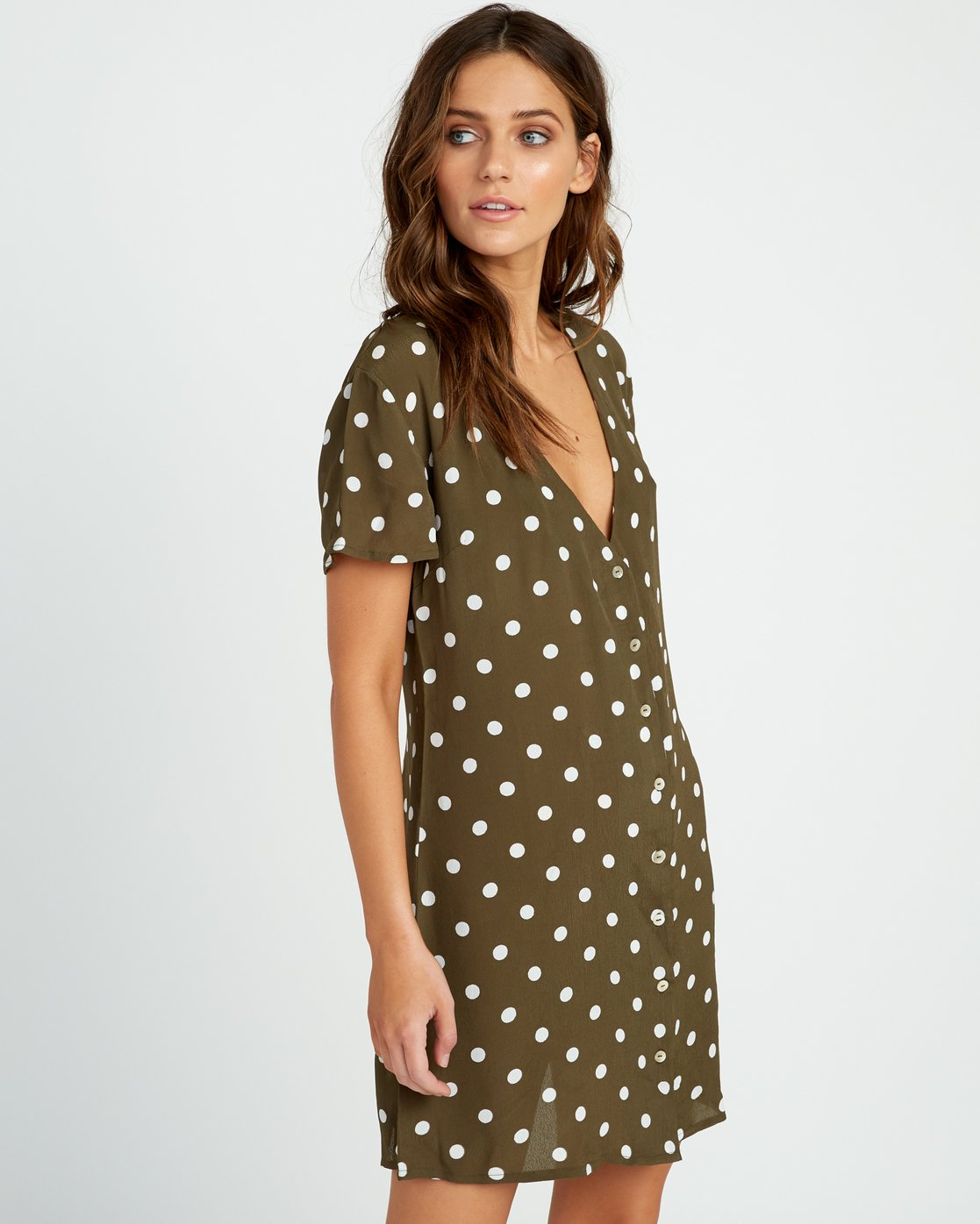 2 Benji Button-Up Dress Green WD90TRBD RVCA
