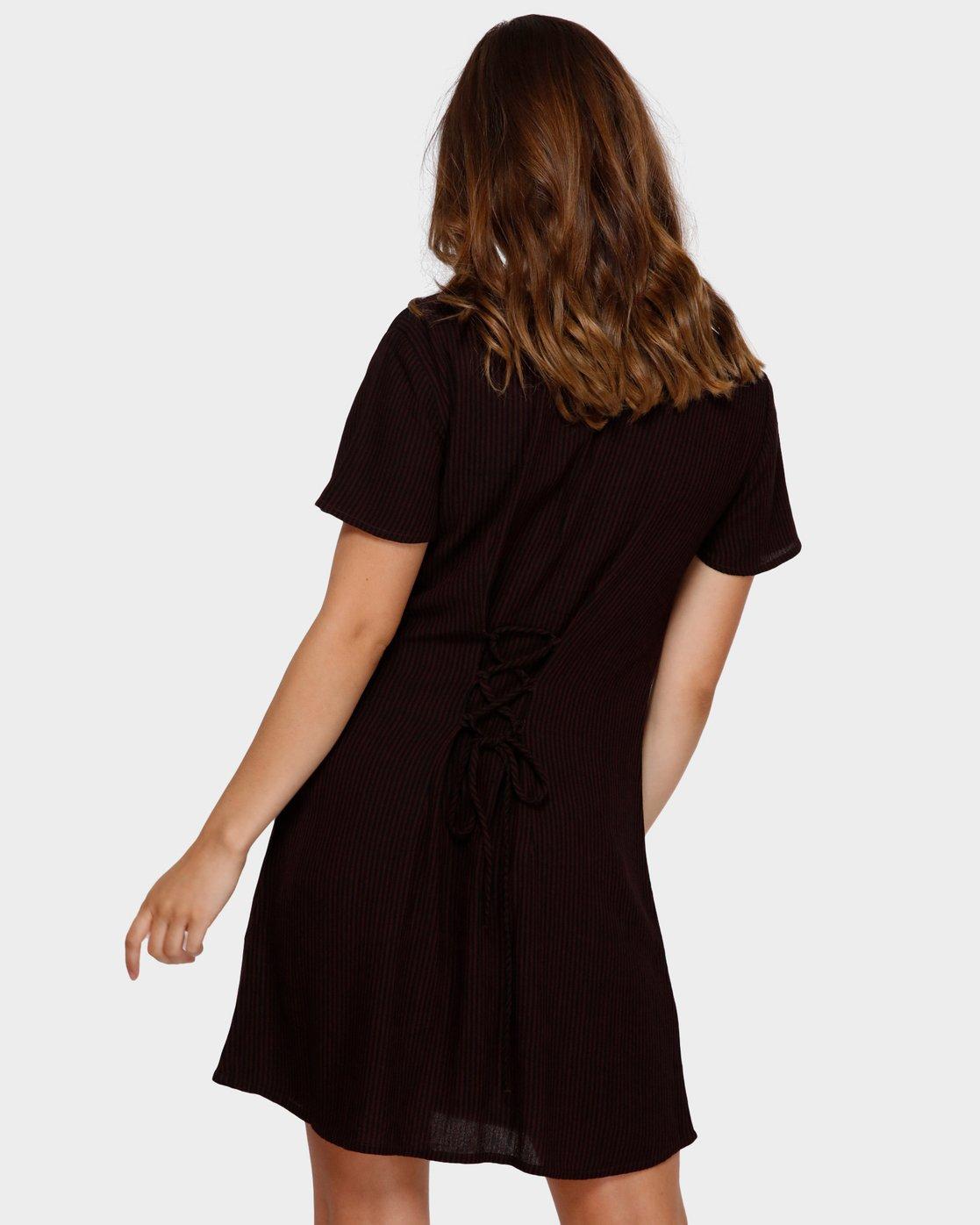 3 Benji Button-Up Dress Brown WD95TRBD RVCA