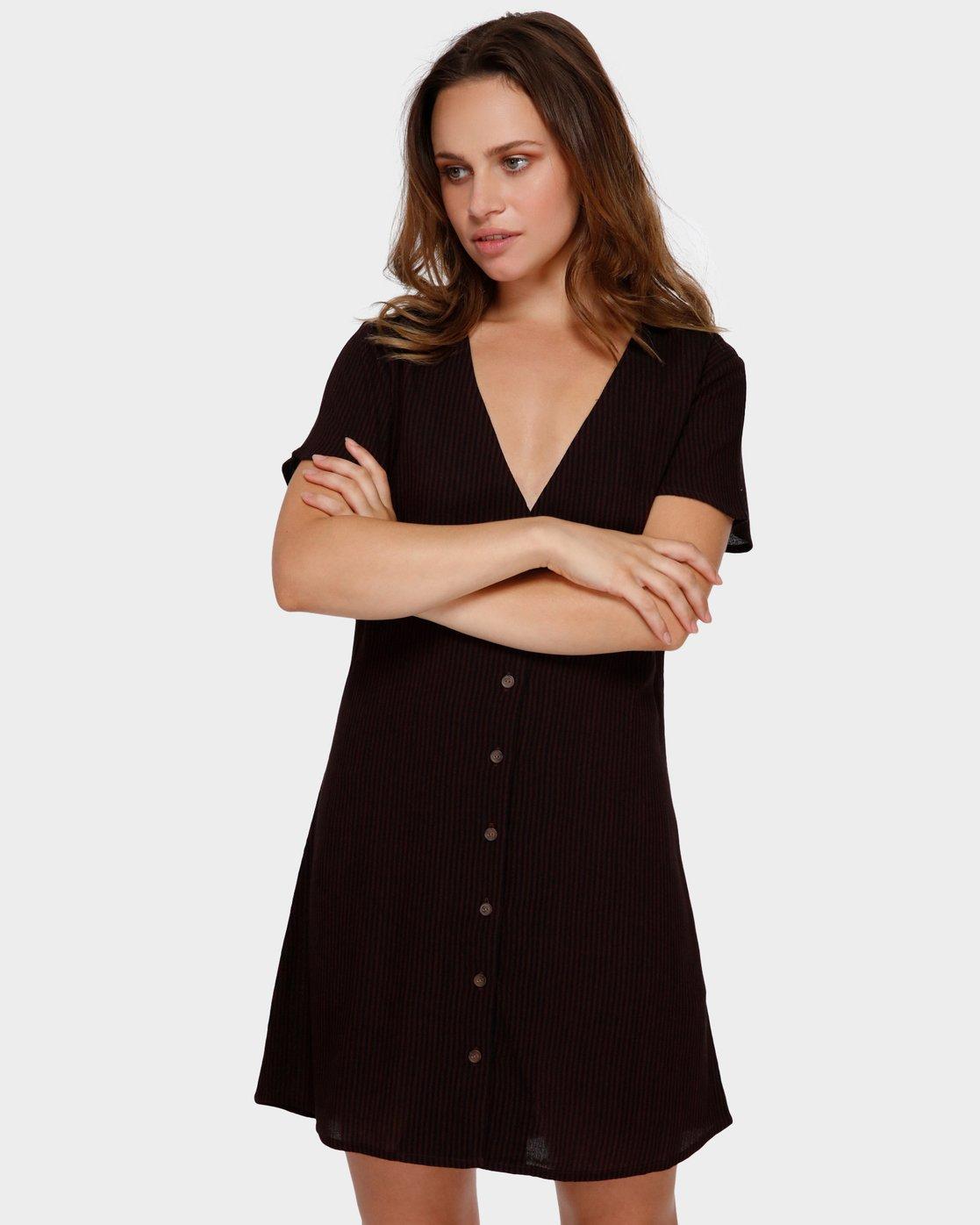 1 Benji Button-Up Dress Brown WD95TRBD RVCA