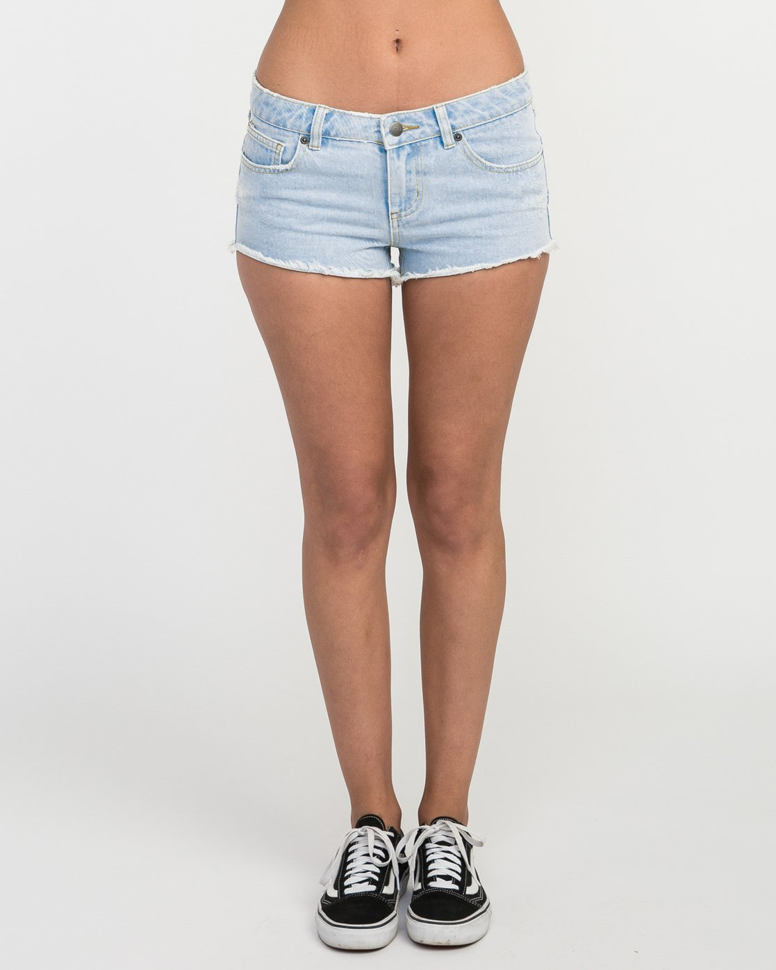 1 Hello Mellow Denim Cutoff Shorts White WF206HEL RVCA