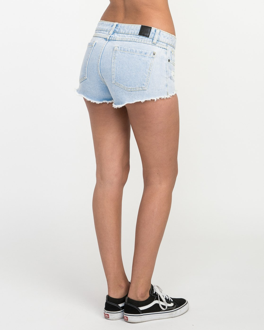 5 Hello Mellow Denim Cutoff Shorts White WF206HEL RVCA