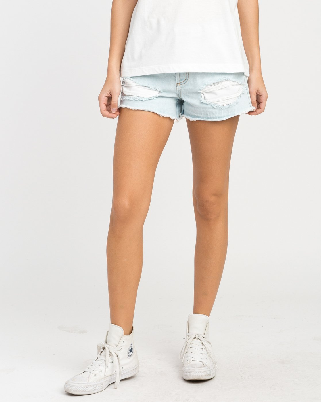 0 The BF Denim Shorts Blue WG201THE RVCA