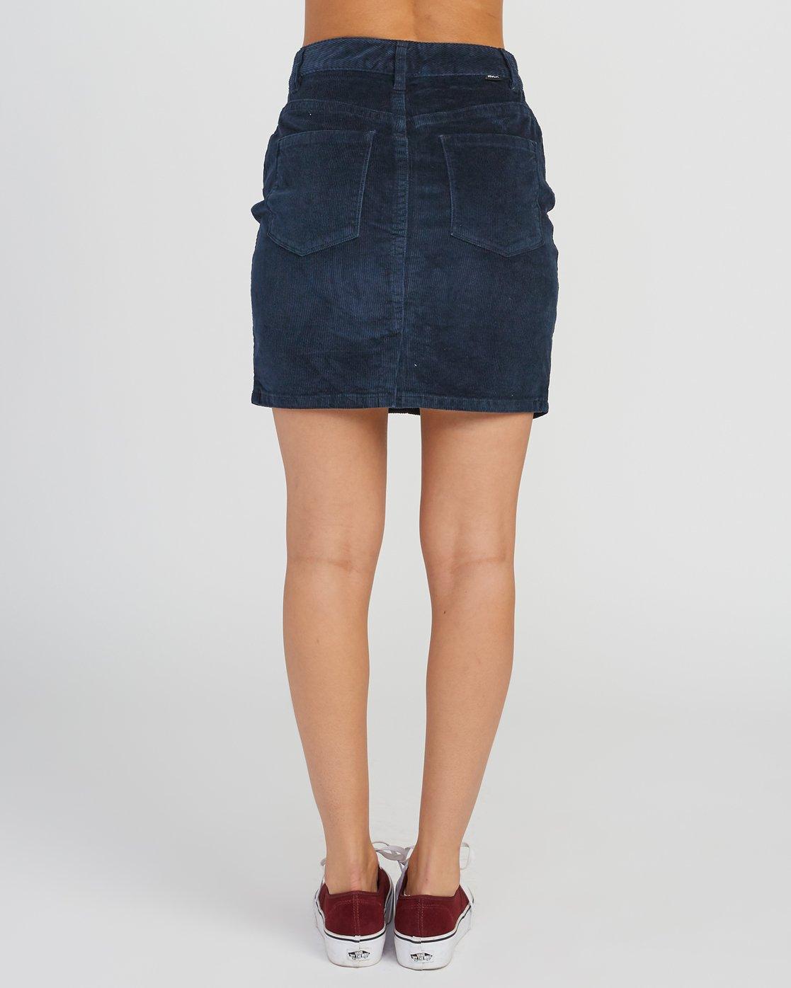 3 Molly Corduroy Mini Skirt Grey WK01SRMO RVCA