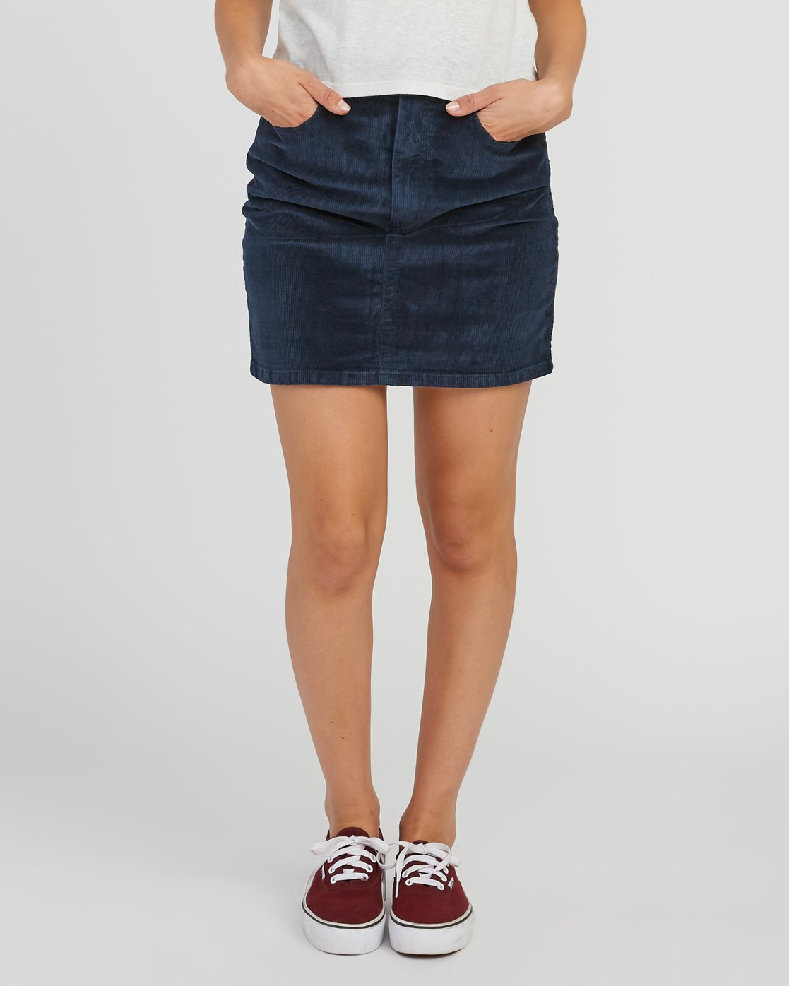 0 Molly Corduroy Mini Skirt Grey WK01SRMO RVCA