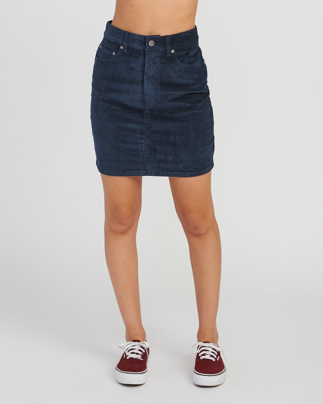 1 Molly Corduroy Mini Skirt Grey WK01SRMO RVCA