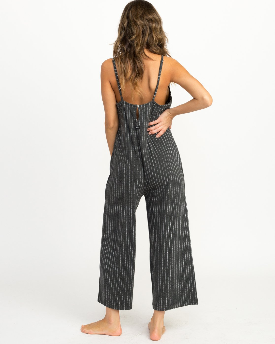 2 Bounce Wide Leg Lounge Jumpsuit Grey WL04QRBO RVCA