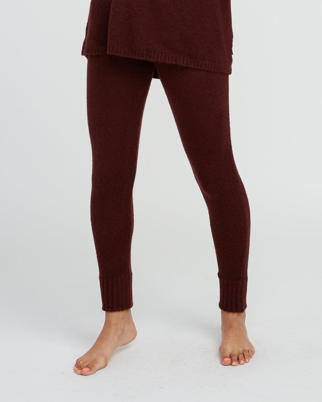 0 Creepin Sweater Knit Leggings Pink WL07SRCR RVCA
