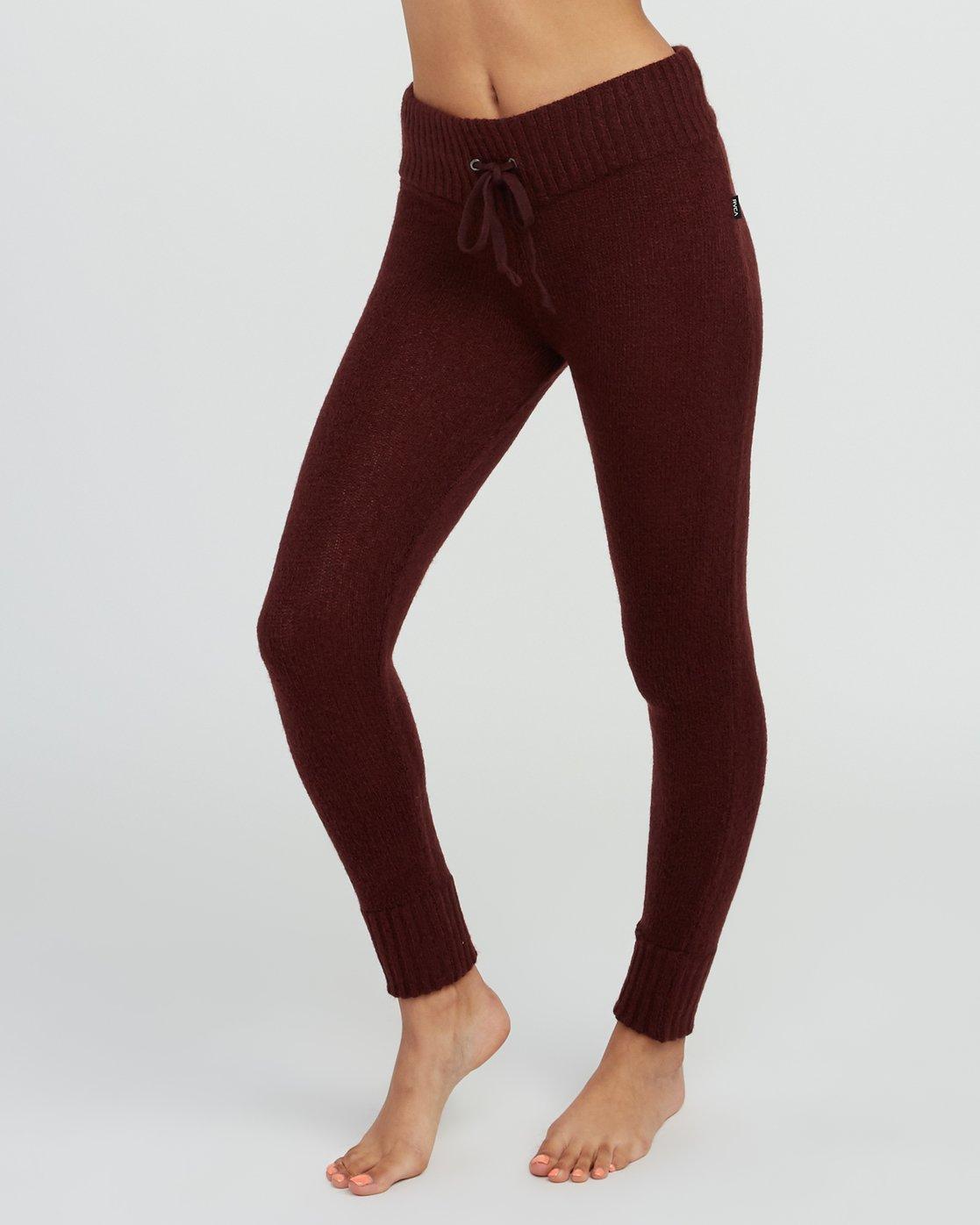 2 Creepin Sweater Knit Leggings Pink WL07SRCR RVCA