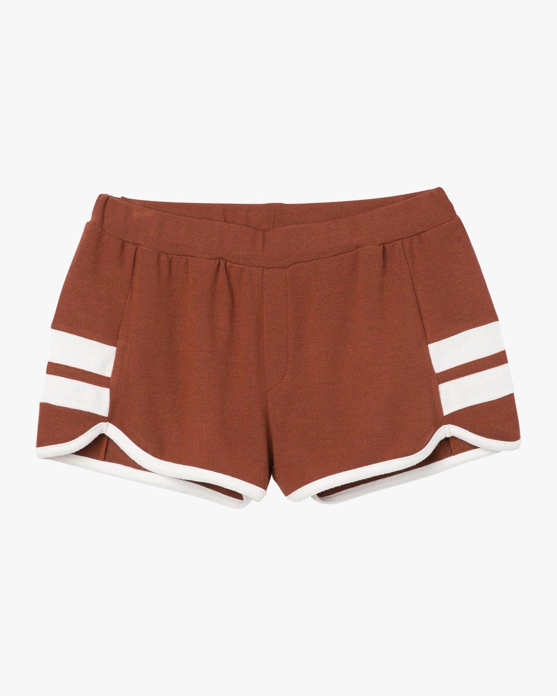 6 Julep Fleece Soft Short Brown WL12QRJU RVCA