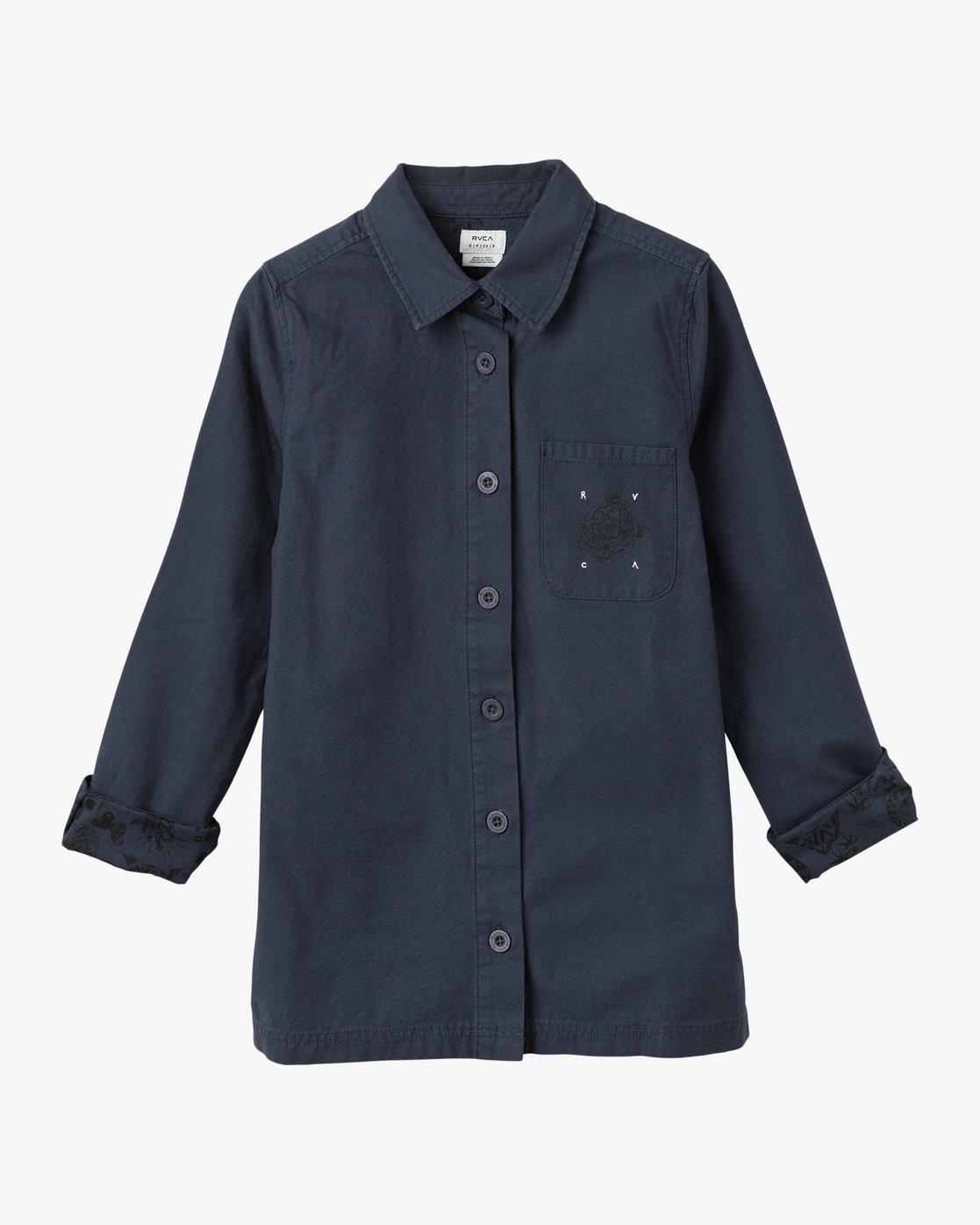4 Bygone Button-Up Shirt Jacket  WL701BYG RVCA