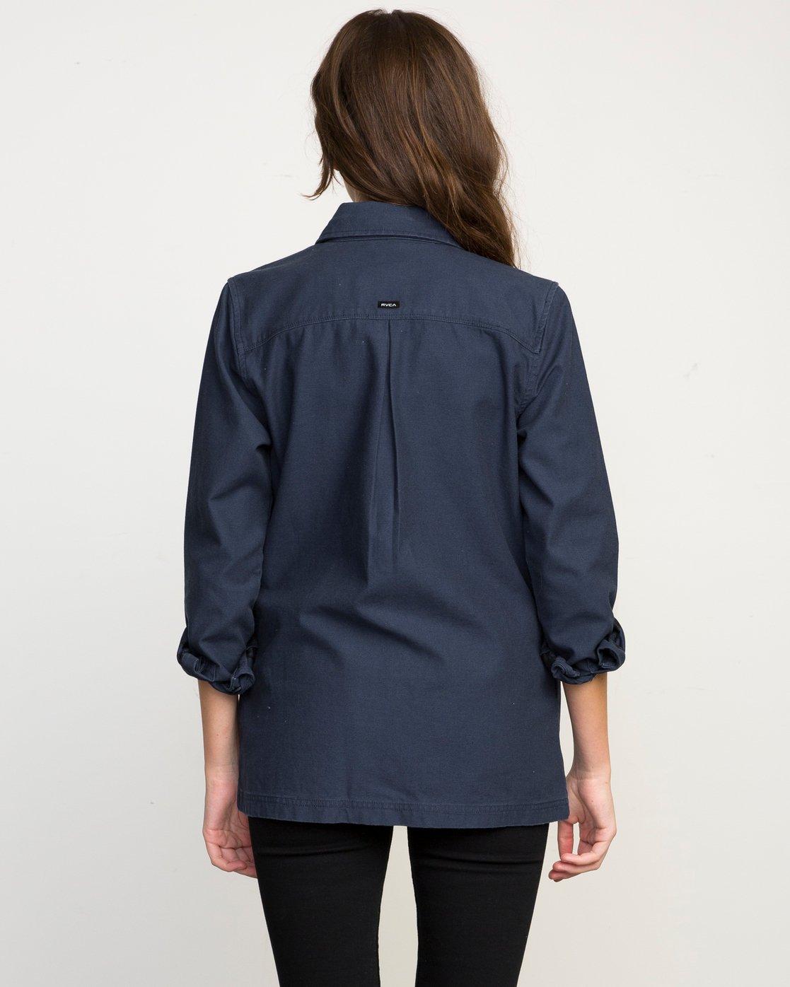 2 Bygone Button-Up Shirt Jacket  WL701BYG RVCA