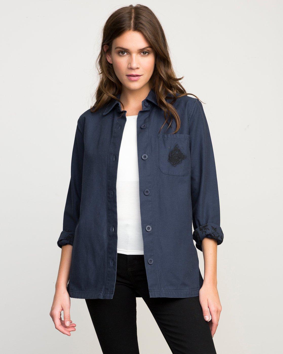 0 Bygone Button-Up Shirt Jacket  WL701BYG RVCA