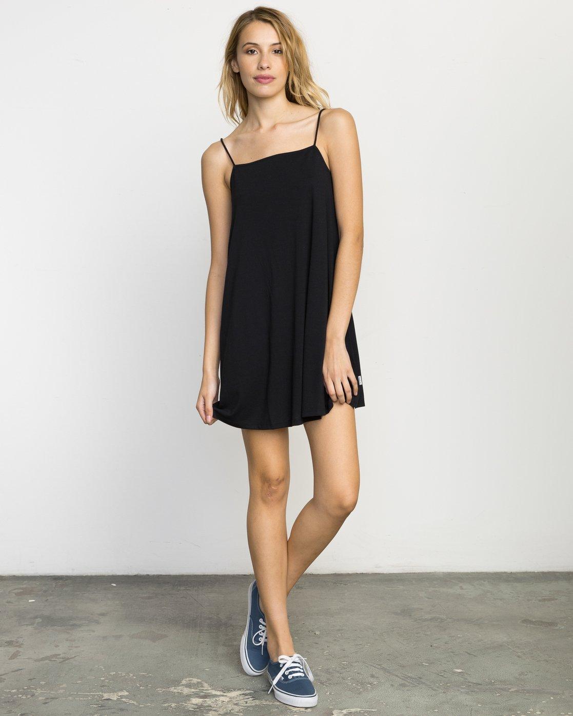 3 Rachel Swing Tank Dress Black WLD07RAC RVCA