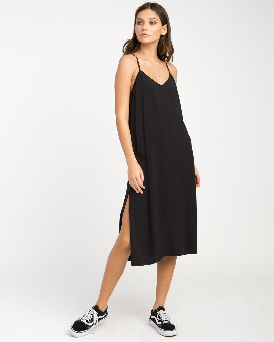 1 Chasing Shadows Midi Dress Black WLD13CHA RVCA