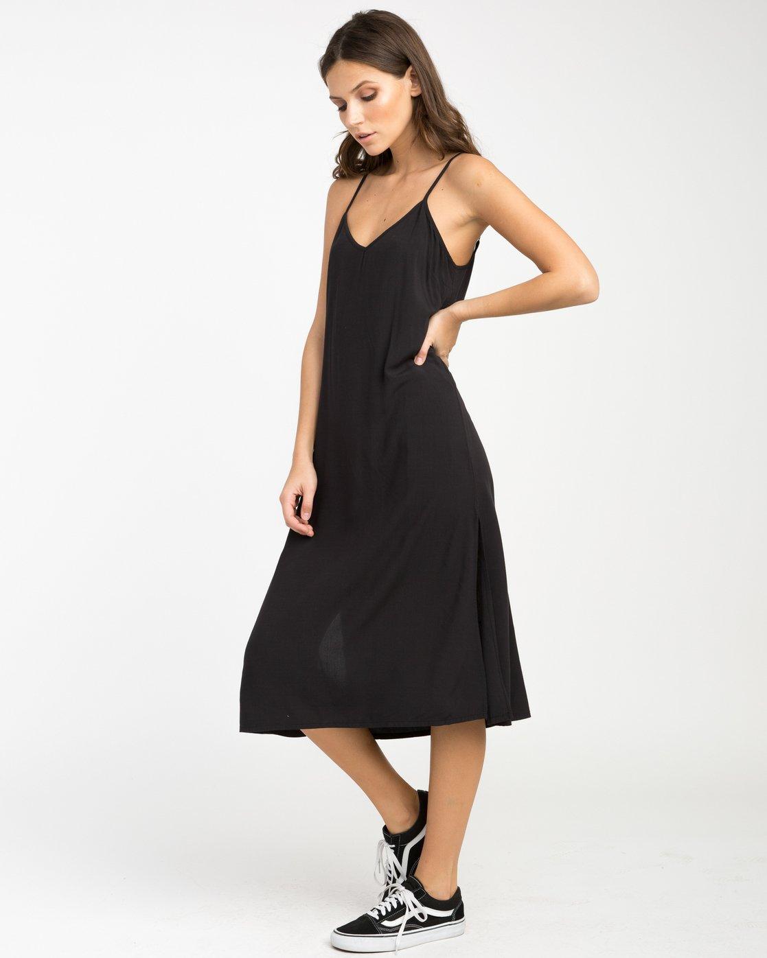 2 Chasing Shadows Midi Dress Black WLD13CHA RVCA