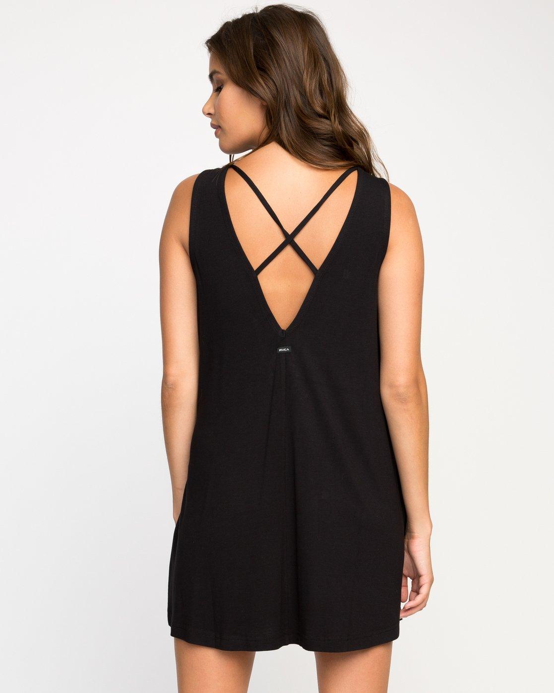 2 Temped Knit Swing Dress Black WMD01TEM RVCA