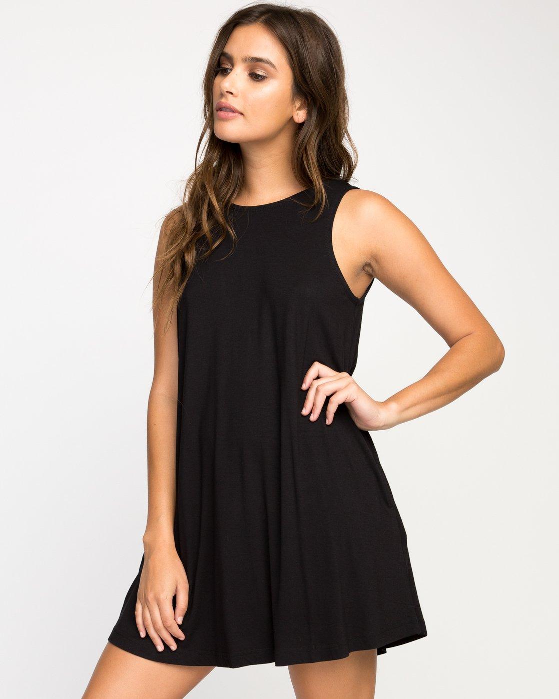 1 Temped Knit Swing Dress Black WMD01TEM RVCA