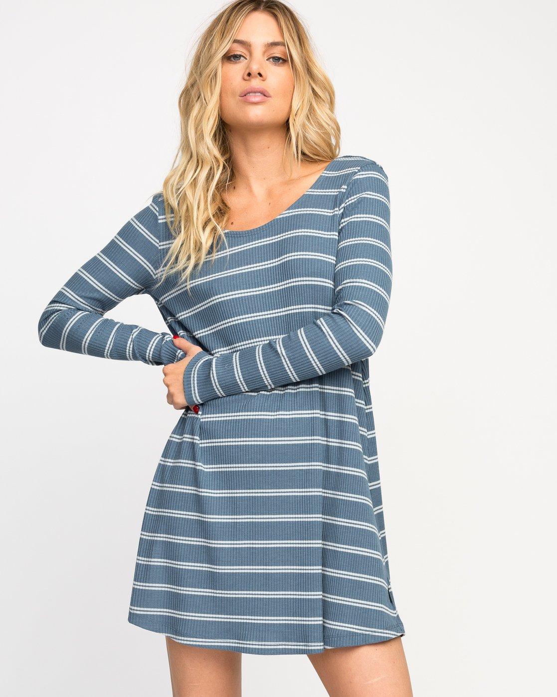 0 Time Table Striped Swing Dress  WMD03TIM RVCA